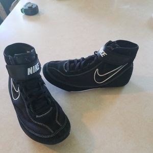 Boys Nike Youth Speed Sweep Black Wrestling Shoes